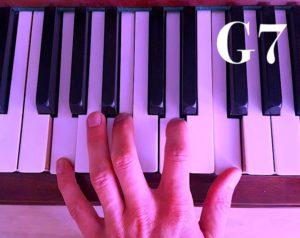 G7 Akkord auf dem Klavier – Septakkorde lernen