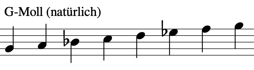 G-Moll Tonleiter