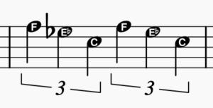 triolen mit buchstaben